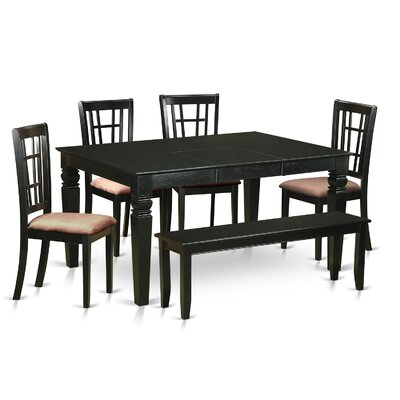 Piermont 6 Piece Dining Set Upholstery: Microfiber