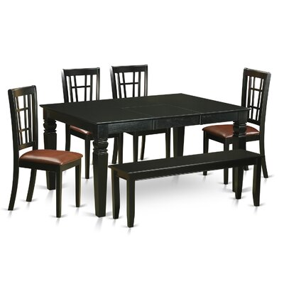 Pennington 6 Piece Dining Set Upholstery: Faux Leather