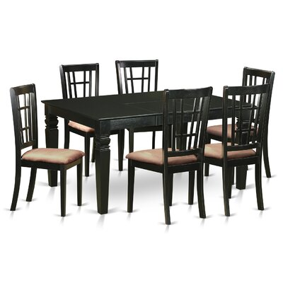 Piermont 7 Piece Dining Set Upholstery: Microfiber