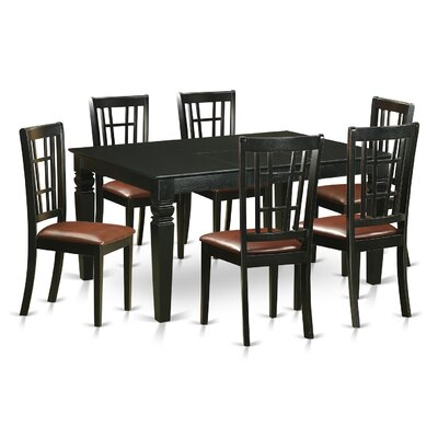 Pennington 7 Piece Dining Set Upholstery: Faux Leather