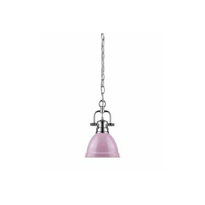 Bodalla 1-Light Bowl Mini Pendant Finish: Chrome, Shade Color: Pink