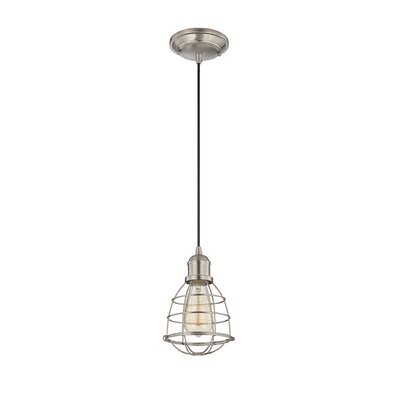 Belltown 1-Light Mini Pendant Finish: Satin Nickel