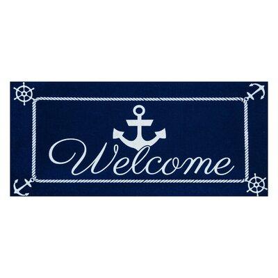 Dotterel Anchor Welcome Sassafras Doormat