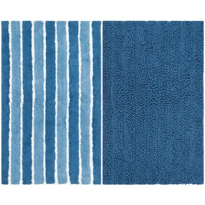 Pratincole Hand-Tufted 2 Piece Blue Area Rug Set Rug Size: 23 x 39