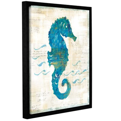 'On The Wave III' by Sue Schlabach Framed Painting Print on Wrapped Canvas