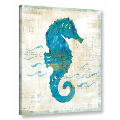 'On The Wave III' by Sue Schlabach Painting Print on Wrapped Canvas