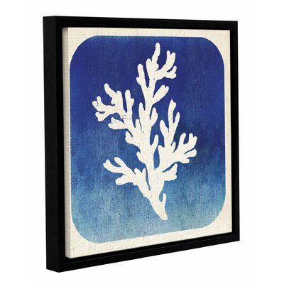 Watermark Coral Framed Graphic Art on Wrapped Canvas Size: 14