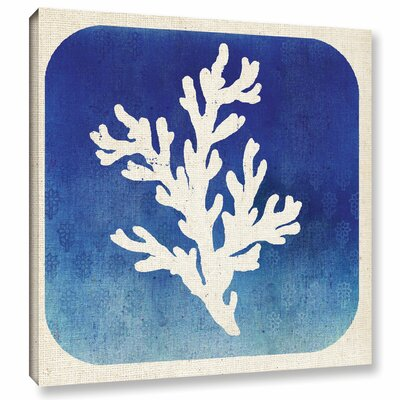 Watermark Coral Graphic Art on Wrapped Canvas Size: 14