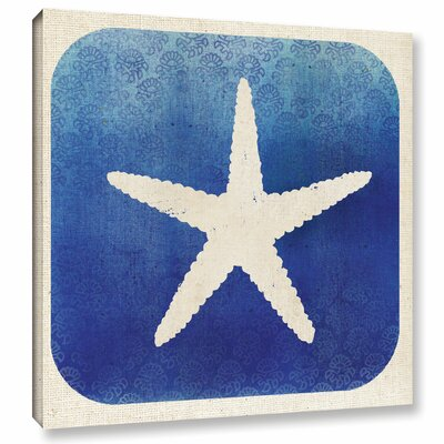 Watermark Starfish Graphic Art on Wrapped Canvas Size: 14