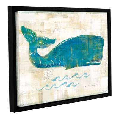 'On The Wave I' by Sue Schlabach Framed Painting Print on Wrapped Canvas