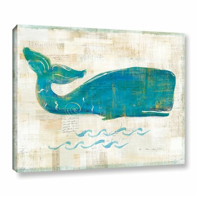 'On The Wave I' by Sue Schlabach Painting Print on Wrapped Canvas