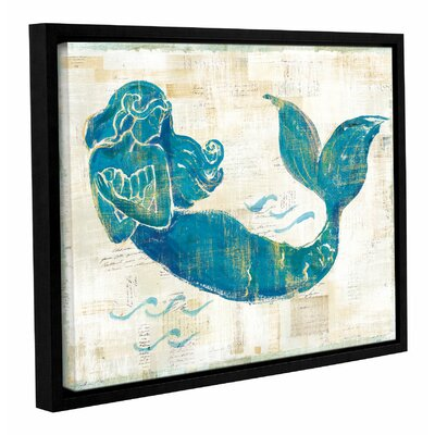 'On The Wave II' by Sue Schlabach Framed Painting Print on Wrapped Canvas