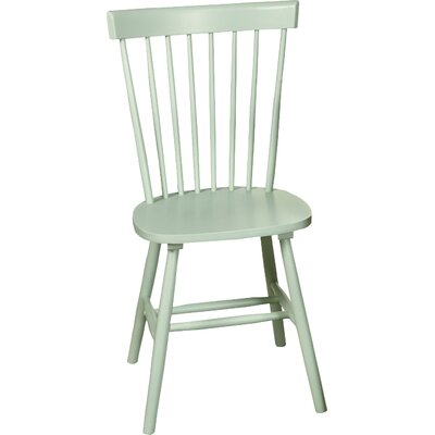 Royal Palm Beach Solid Wood Dining Chair Finish: Mint