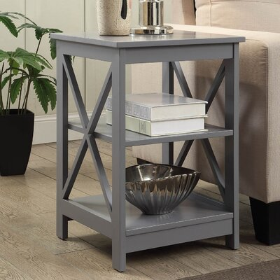 Stoneford End Table Color: Gray