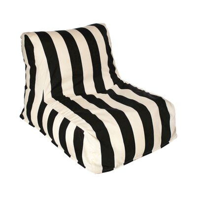 Merrill Bean Bag Lounger Upholstery: Black/Off-White
