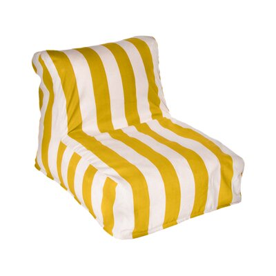 Merrill Bean Bag Lounger Upholstery: Yellow/Off-White