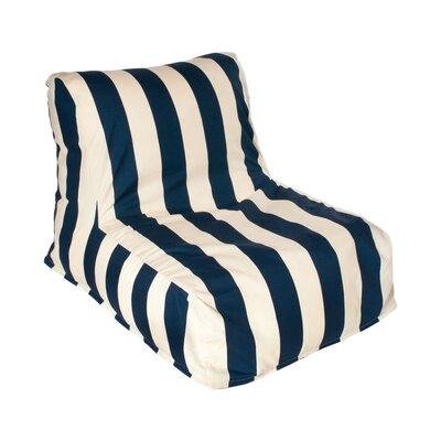 Merrill Bean Bag Lounger Upholstery: Navy/Off-White