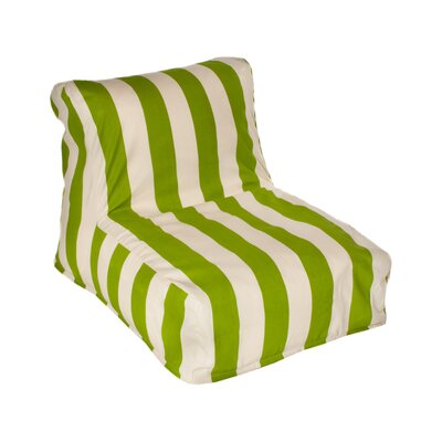 Merrill Bean Bag Lounger Upholstery: Sage/Off-White