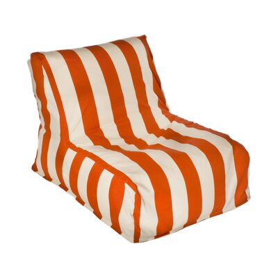 Merrill Bean Bag Lounger Upholstery: Orange/Off-White