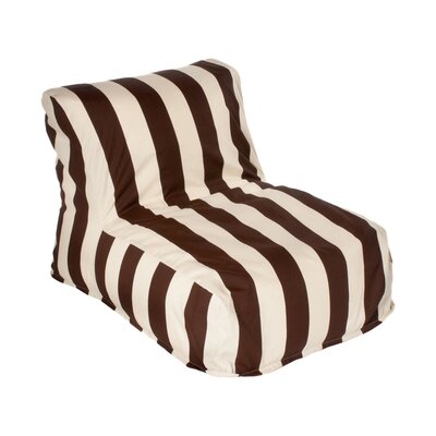 Merrill Bean Bag Lounger Upholstery: Brown/Off-White