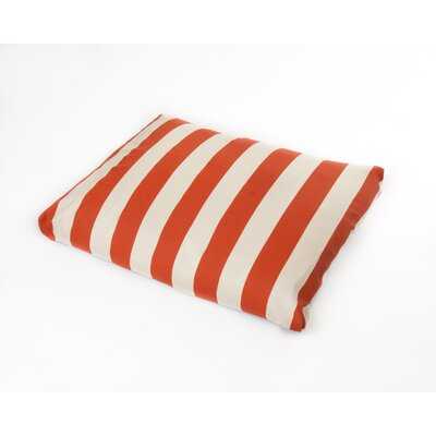 Limestone Dog Pillow Size: Medium (36 L x 29 W), Color: Orange/Off-White