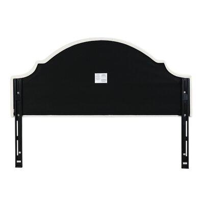 Bellemoor Upholstered Panel Headboard Upholstery: Off-White, Size: King