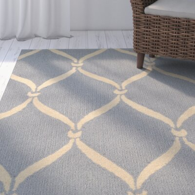 Coventry Light Blue/Ivory Indoor/Outdoor Area Rug Rug Size: 5 x 8
