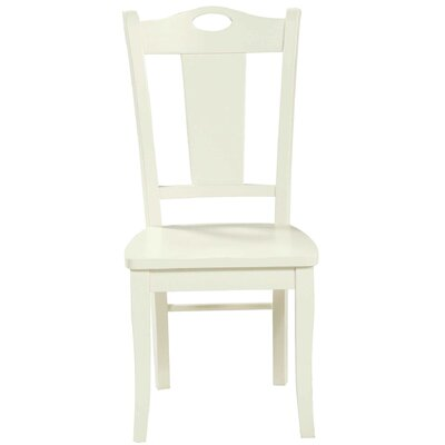 Miami Springs Solid Wood Dining Chair Finish: White