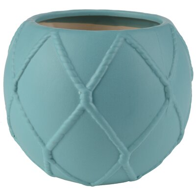 Decorative Nautical Knot Ceramic Pot Planter (Set of 2)