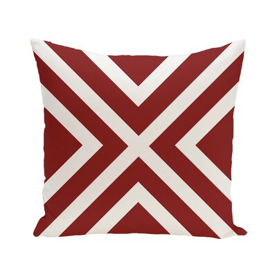 Greater Northdale Outdoor Throw Pillow Color: Cardinal, Size: 16 H x 16 W x 1 D