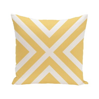 Greater Northdale Outdoor Throw Pillow Color: Lemon, Size: 18 H x 18 W x 1 D