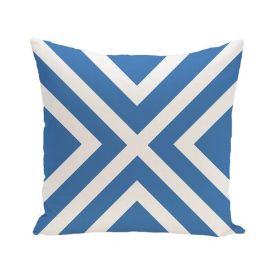 Greater Northdale Outdoor Throw Pillow Color: Azure, Size: 18 H x 18 W x 1 D