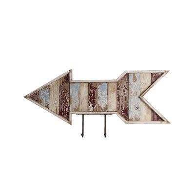 Breakwater Bay Hooks Wooden Wall Arrow