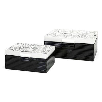 2 Piece Ceramic Box Set