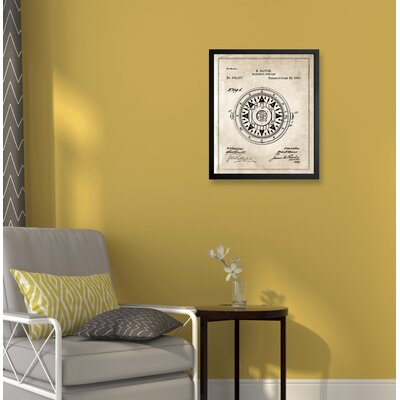 'Compass' by Hatcher & Ethan Framed Graphic Art