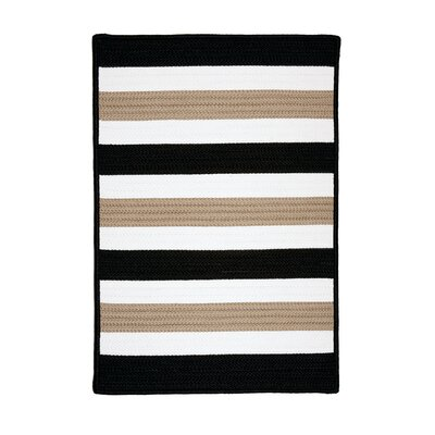 Eagle Lake Black Indoor/Outdoor Area Rug Rug Size: 4 x 6