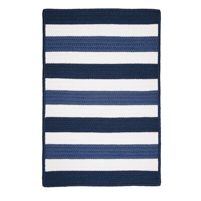 Eagle Lake Nautical Hand-Woven Blue/White Indoor/Outdoor Area Rug Rug Size: Rectangle 4 x 6