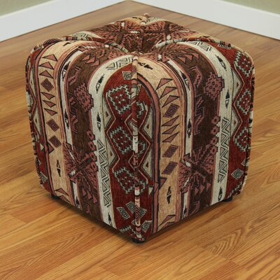 Gullane Upholstered Ottoman Color: Rust Brown