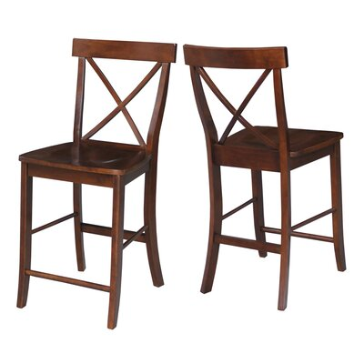 Downey 24 Bar Stool Color: Espresso