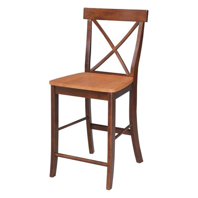 Shoreham 24 Bar Stool Finish: Cinnamon/Espresso