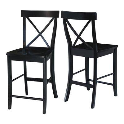 Downey 24 Bar Stool Color: Black