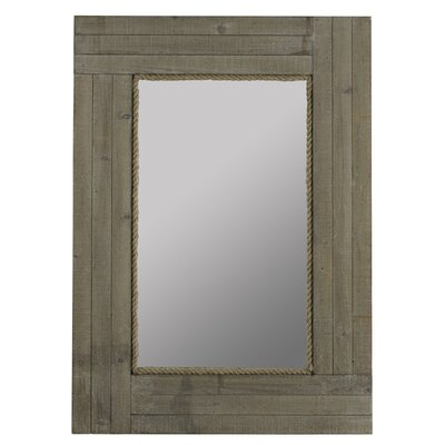 Rectangle Gray Wood Mirror