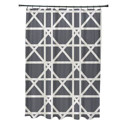 Osage Trellis Geometric Print Shower Curtain Color: Gray