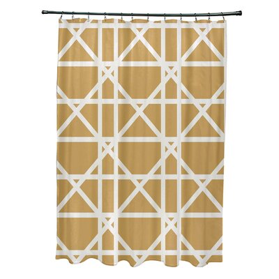 Osage Trellis Geometric Print Shower Curtain Color: Yellow