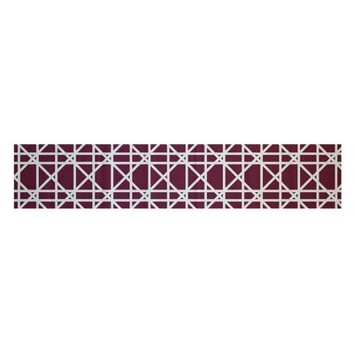 Osage Trellis Geometric Print Table Runner Size: 16