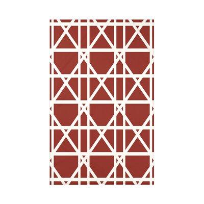 Osage Trellis Geometric Print Throw Blanket Size: 50 H x 60 W x 0.5 D, Color: Orange