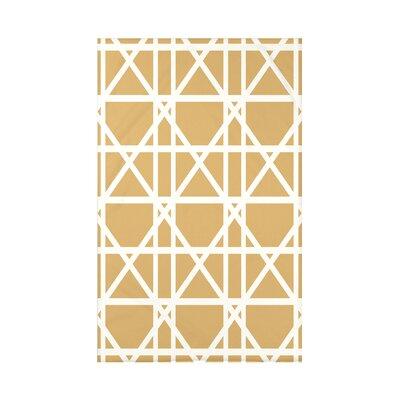 Osage Trellis Geometric Print Throw Blanket Size: 50 H x 60 W x 0.5 D, Color: Gold