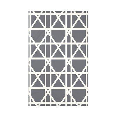 Osage Trellis Geometric Print Throw Blanket Size: 50 H x 60 W x 0.5 D, Color: Gray