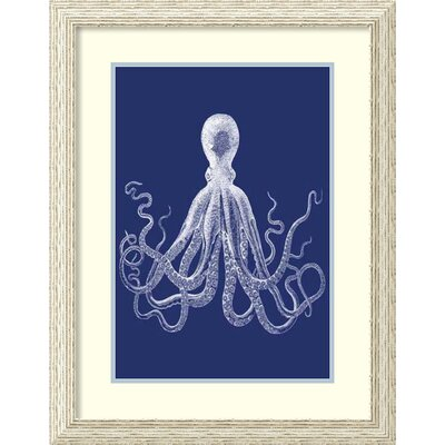 Indigo Octopus I Framed Painting Print