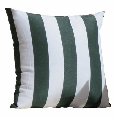 Miami Stripe Indoor/Outdoor Throw Pillow Color: Green